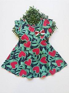 Vestido Melancia - 1 a 3 Feminino
