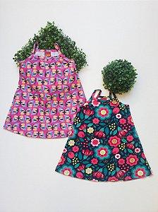 Combo Jardim Colorido 2 Vestidos - 1 a 3 Feminino