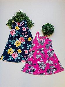 Combo Floral 2 Vestidos 4 a 8 Feminino