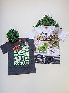 Combo Dinossauro 2 Camisetas - 4 a 8 Masculino