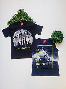 Combo Esporte 2 Camisetas - 4 a 8 Masculino