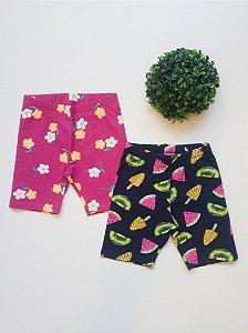 Combo Verão 2 Shorts - 4 a 8 Feminino