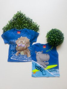 Combo 2 Camisetas Bebê Masculino