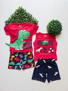 Combo Dino 2 Conjuntos Bebê Masculino