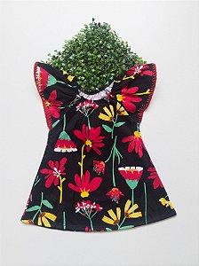 Vestido Floral 1 a 3 Feminino
