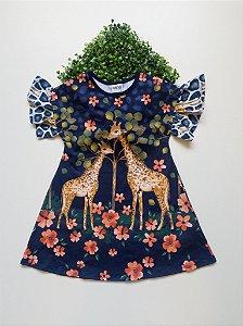 Vestido Girafa 4 a 8 Feminino