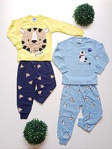 Combo 2 Pijamas Divertidos 1 a 3 Masc - Bicho Bagunça