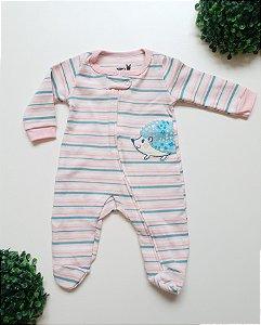 Macacão Longo Ouriço Bebê Fem - Kiko Baby