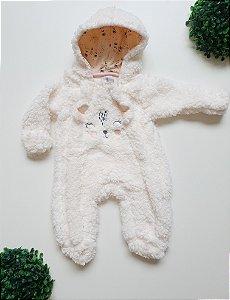 Macacão Longo Pelo Bebê Fem - Kiko Baby