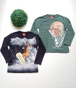 Combo Esporte 2 Camisetas 4 a 8 Masc - Kyly