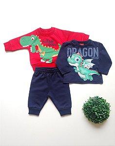 Combo Dragão Conjunto + Camiseta Bebê Masc - Kyly
