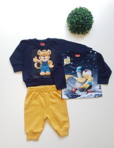 Combo Bebê Masc Conjunto + Camiseta - Kyly