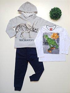 Combo Dino 4 a 8 Masc Conjunto + Camiseta - Kyly