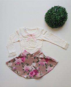 Conjunto Infantil Festa Floral - Tam 1 ao 3 - Bika Kids