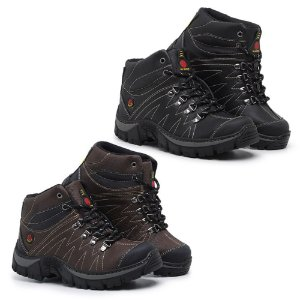 Kit 2 Pares de Bota Adventure Wway Preto e Café
