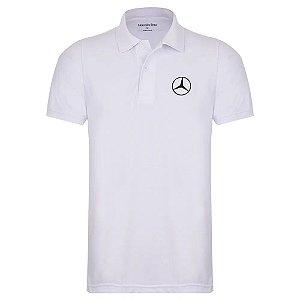 Camisa Polo Oficial Masculina Mercedes-Benz Branco