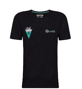 Camiseta Tour Fanwear AMG Masculina F1 Mercedes-Benz Preto
