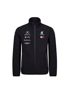 Jaqueta Softshell Oficial Equipe F1 2019 Masculina AMG Petronas Mercedes-Benz Preto
