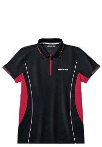 Camisa Polo Coolmax AMG Masculina Mercedes-Benz Preto