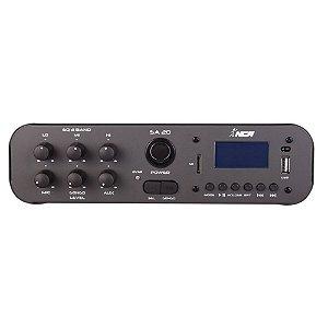 Amplificador Compacto De Som Nca Sa20 100 Wrms p/até 20 cxs