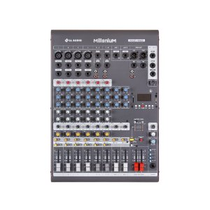 Mesa de som Mixer LL Audio M802D 8 canais Phantom Power