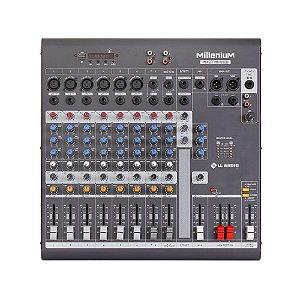 Mesa de som Mixer LL Audio Millenium MX1002D 10 canais