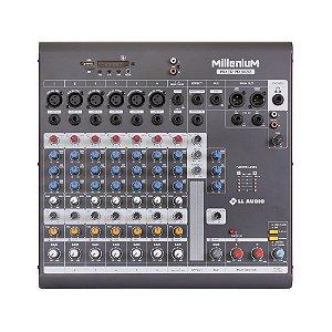 Mesa de som Mixer LL Audio Millenium MX802R 8 canais