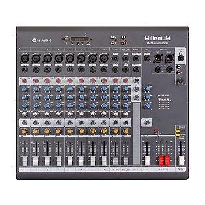 Mesa de som Mixer LL Audio Millenium MX1202D 12 canais