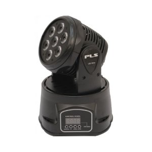 Mini Moving Head PLS Led Blizz 7 Leds de 8W RGBW Auto ou DMX