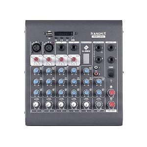 Mesa De Som Mixer Nanomix CDX LL Audio CDX702 6 Canais