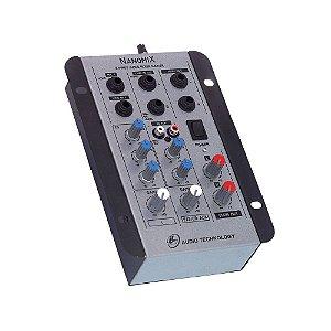 Mesa De Som Mixer Nanomix LL Audio Na202r 2 Canais