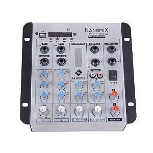 Mesa De Som Mixer Nanomix LL Audio Na502R BT 5 Canais