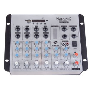 Mesa De Som Mixer Nanomix LL Audio Na702R BT 7 Canais