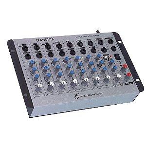 Mesa de Som Mixer Nanomix LL Audio Na802R 8 Canais