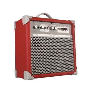Caixa De Som Amplificada Multiuso Up!6 Deep Red Fm/usb/BT
