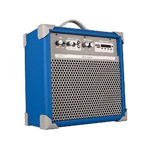 Caixa De Som Amplificada Multiuso Up!6 Sky Blue Fm/usb/BT