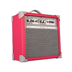 Caixa De Som Amplificada Multiuso Up!6 Vivid Pink Fm/usb/BT