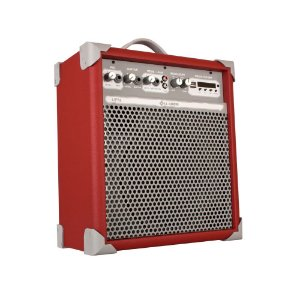 Caixa de Som Amplificada Multiuso Up!8 Deep Red FM/USB/BT