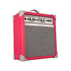 Caixa de Som Amplificada Multiuso Up!8 Vivid Pink FM/USB/BT
