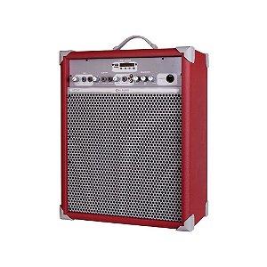 Caixa de Som Amplificada Multiuso Up!10 Deep Red FM/USB/BT
