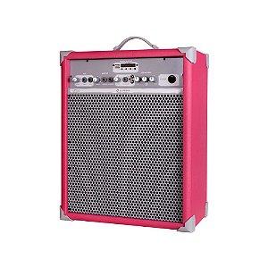Caixa de Som Amplificada Multiuso Up!10 Vivid Pink FM/USB/BT