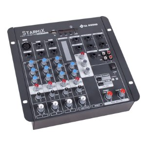 Mesa De Som Mixer Ll Audio Usfx402r Bt 4 Canais Bluetooth