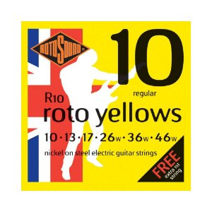 Encordoamento para Guitarra Rotosound Roto Yellow R10