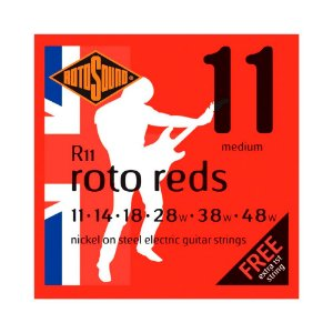 Encordoamento para Guitarra Rotosound Red Nickel R11