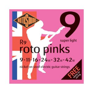 Encordoamento para Guitarra Rotosound Pink Nickel R9