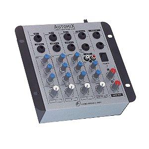 Mesa De Som Mixer Automix LL Audio A402R 4 Canais 12 Volts