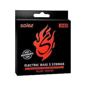 Encordoamento Solez P/Contra-baixo 6 cordas 0.027 SLB627