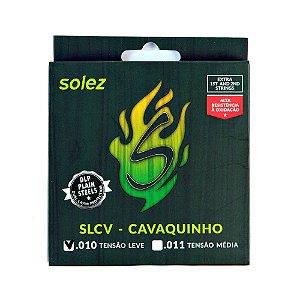 Encordoamento Solez P/Cavaco  DLP 010/030 SLCV Tensão Leve