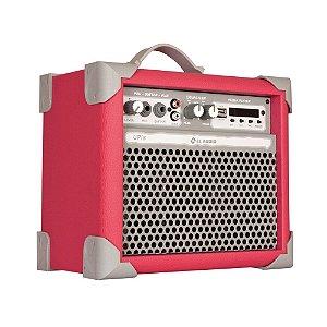 Caixa de Som Amplificada Multiuso Up!5 Vivid Pink Fm/usb/BT
