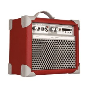 Caixa De Som Amplificada Multiuso Up!5 Deep Red FM/USB/BT